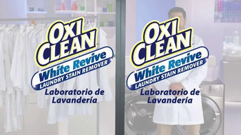 OxiClean White Revive TV Spot, 'Laboratorio de lavandería' [Spanish] - Thumbnail 1