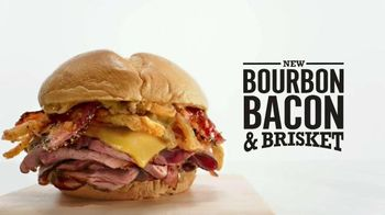 Arby's Bourbon Bacon & Brisket TV Spot, 'Sandwich Party' - 2146 commercial airings