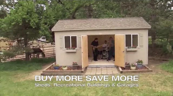 Tuff Shed Buy More Save More Event TV Spot, 'Band Box' - Thumbnail 7