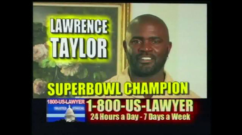 1-800-US-LAWYER TV Spot, 'Any Accident' Featuring Lawrence Taylor