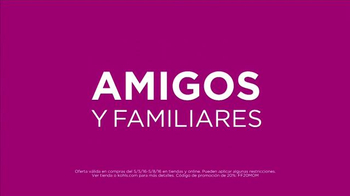 Kohl's TV Spot, 'Descuentos para amigos y familiares' [Spanish] - Thumbnail 2