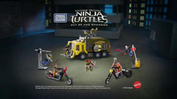 Mega Bloks Teenage Mutant Ninja Turtles: Out of the Shadows TV Spot, 'Race'