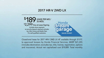 Honda Dream Garage Sales Event TV Spot, 'Doors: 2017 HR-V' [T2] - Thumbnail 4