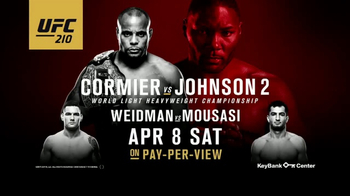 Pay-Per-View TV Spot, 'UFC 210: Cormier vs. Johnson 2: Ground Shake' - 53 commercial airings