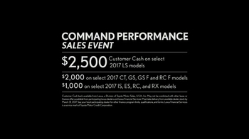 Lexus Command Performance Sales Event TV Spot, 'Power and Precision' [T2] - Thumbnail 9