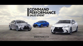 Lexus Command Performance Sales Event TV Spot, 'Power and Precision' [T2] - Thumbnail 7