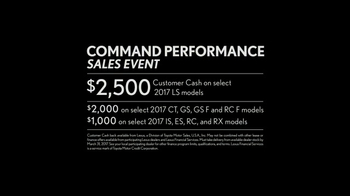 Lexus Command Performance Sales Event TV Spot, 'Power and Precision' [T2] - Thumbnail 8