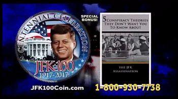 New England Mint Coins JFK-100 Half Dollar TV Spot, 'American Hero' - 17 commercial airings