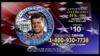 New England Mint Coins JFK-100 Half Dollar TV Spot, 'American Hero' - Thumbnail 6