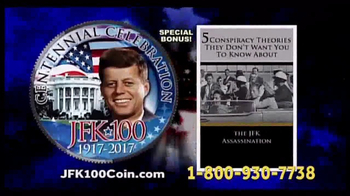 New England Mint Coins JFK-100 Half Dollar TV Spot, 'American Hero' - 17 commercial airings