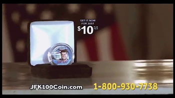 New England Mint Coins JFK-100 Half Dollar TV Spot, 'American Hero' - Thumbnail 5