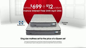 Rooms to Go Anniversary Sale TV Spot, 'King-Size Sealy' - Thumbnail 3