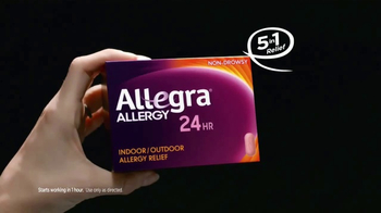 Allegra 24 Hour Allergy TV Spot, 'Indoor & Outdoor' - Thumbnail 3
