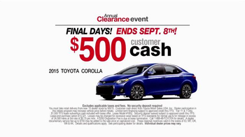 Toyota Annual Clearance Event TV Spot, 'Final Days' - Thumbnail 7