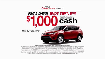 Toyota Annual Clearance Event TV Spot, 'Final Days' - Thumbnail 8
