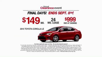 Toyota Annual Clearance Event TV Spot, 'Final Days' - Thumbnail 9