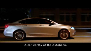 2015 Chrysler 200 TV Spot, 'German Performance: Worthy of the Autobahn' - Thumbnail 2