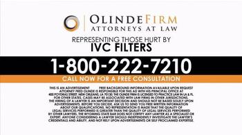 Olinde Firm TV Spot, 'IVC Filters' - Thumbnail 6