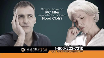 Olinde Firm TV Spot, 'IVC Filters' - Thumbnail 4