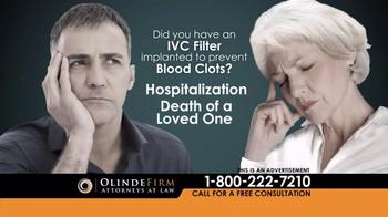 Olinde Firm TV Spot, 'IVC Filters' - Thumbnail 5