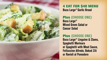 Buca di Beppo TV Spot, 'Feed 4 for $40 at Buca' - Thumbnail 5
