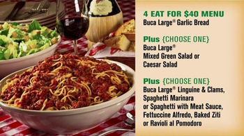 Buca di Beppo TV Spot, 'Feed 4 for $40 at Buca' - Thumbnail 6