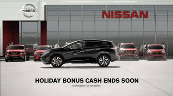 Nissan Bottom Line Model Year-End Event TV Spot, 'Bonus Cash Ends Soon' - Thumbnail 6