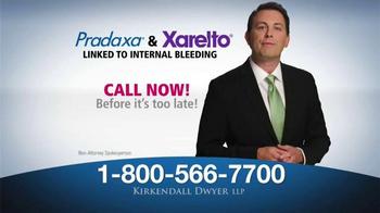 Kirkendall Dwyer LLP TV Spot, 'Attention: Pradaxa and Xarelto' - Thumbnail 4