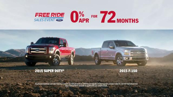 Ford Free Ride Sales Event TV Spot, 'Every 2015 Truck' - Thumbnail 6