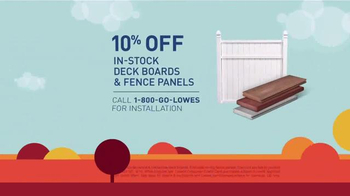 Lowe's Labor Day Savings TV Spot, 'Deck Boards, Fence Panels & Grills' - Thumbnail 4