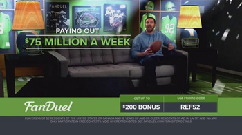FanDuel Fantasy Football One-Week Leagues TV Spot, 'Get Paid for Knowledge' - Thumbnail 2