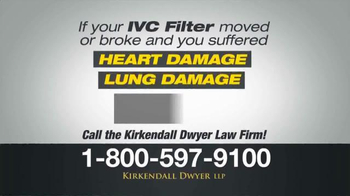 Kirkendall Dwyer LLP TV Spot, 'IVC Filters' - Thumbnail 2
