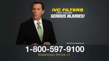 Kirkendall Dwyer LLP TV Spot, 'IVC Filters' - Thumbnail 4