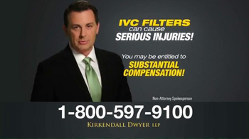 Kirkendall Dwyer LLP TV Spot, 'IVC Filters' - Thumbnail 5