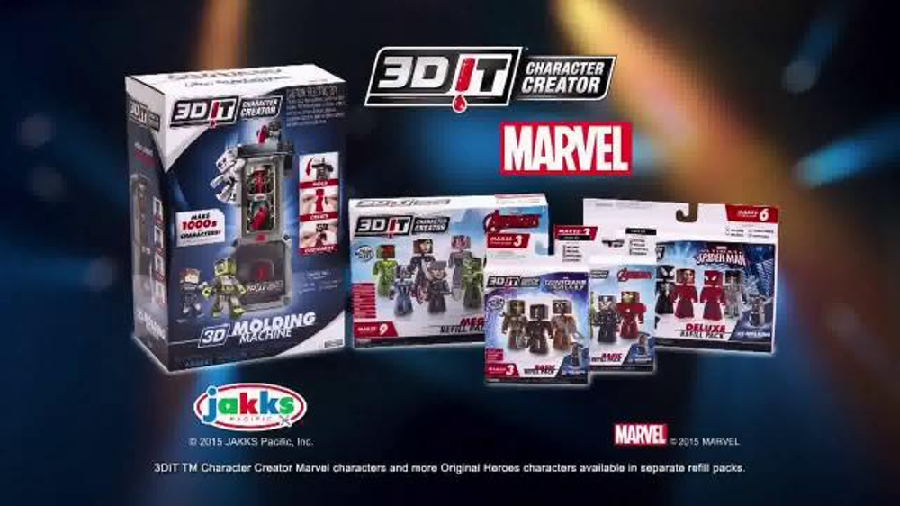 3dit Character Creator Mold Maker Tv Commercial Marvel