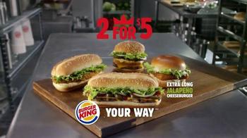 Burger King Extra Long Jalapeño Cheeseburger TV Spot, 'Jalapeños, Please' - Thumbnail 8