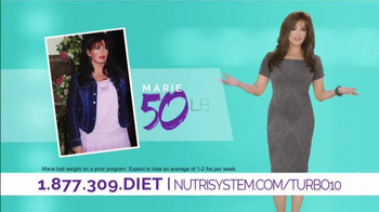 Nutrisystem Turbo10 TV Spot, 'Bust Belly Bloat' Featuring Marie Osmond - 2674 commercial airings