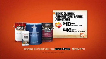 The Home Depot Project Color App TV Spot, 'Save on BEHR and Glidden' - Thumbnail 6
