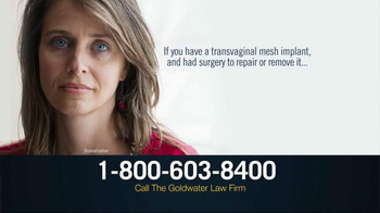 Goldwater Law Firm TV Spot, 'Transvaginal Mesh Implant Victims' - Thumbnail 2