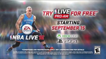 NBA Live 16 TV Spot, 'Official E3 First Look Trailer' Song by Fashawn - Thumbnail 6