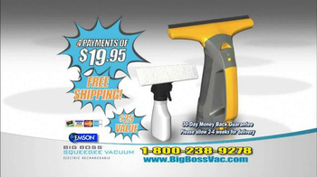 Big Boss Squeegee Vacuum TV Spot, 'Window Grime' - 23 commercial airings