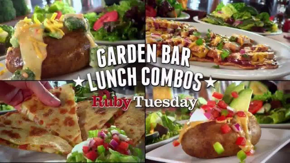 ruby tuesday garden bar lunch combos tv commercial endless trips