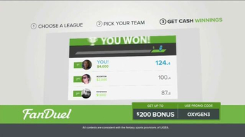 FanDuel Fantasy Football One-Week Leagues TV Spot, 'Win Money Every Week' - Thumbnail 4