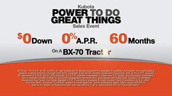 Kubota Power to do Great Things Sales Event TV Spot, 'Orange Plus' - Thumbnail 8