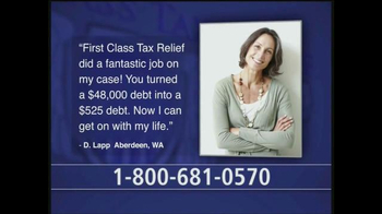 First Class Tax Relief TV Spot, 'We Will Not Quit' - Thumbnail 1