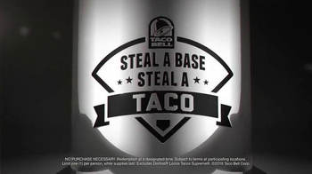 Taco Bell Steal a Base, Steal a Taco TV Spot, '2016 World Series' - Thumbnail 9