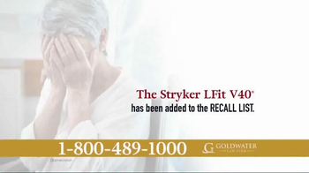 Goldwater Law Firm TV Spot, 'Certain Stryker Hip Implants Recalled!' - Thumbnail 2
