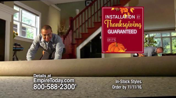 Empire Today 50/50/50 Sale TV Spot, 'By Thanksgiving'
