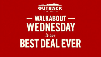 Outback Steakhouse Walkabout Wednesdays TV Spot, 'Run to Outback' - Thumbnail 3