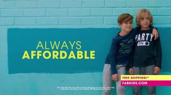 FabKids.com Buy 1, Get 1 Free TV Spot, \'A New Fashion Brand for Kids\'